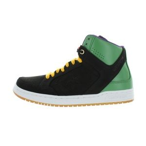 Converse Mens Domination Mid Shoes Black Green